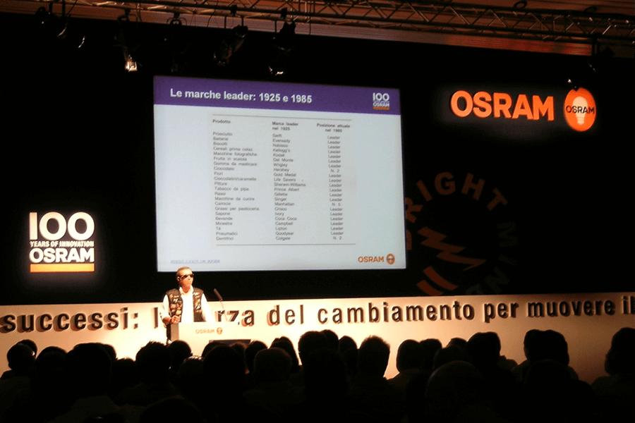 Celebrazione 100 anni Osram Quasar Group